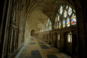 Cloisters Gloucester Cathedral by Wiffsmiff23