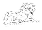 Dog lineart 1 by Velyra