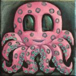 SqueePuss Pink and Turquoise by rawjawbone