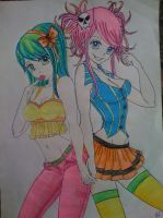 Neon Anime Girls by Pin-updoll