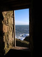 sea view at Slains by Blue-eyed-Kelpie