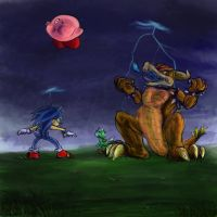 Sonic Finally Joins Brawl by Pink-Shimmer