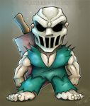 Splatterhouse..it's Mini Rick by Cosmic-Brainfart