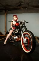 xErynnx and Bob's bike by Vidiphoto