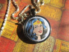 DC Wonder Woman Pendant Silver Plated Necklace by MammaShaClothing