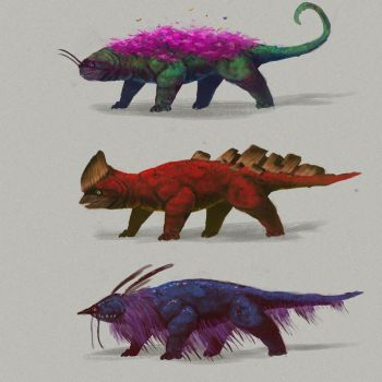 Creature sketches 2 by MySoulDive