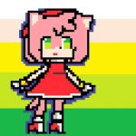 Pixel Amy Rose by CatBecker