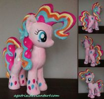 Rainbow Power Pinkie Pie plush by agatrix