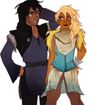 HTTYD- Human Toothless and Stormyfly by CHAOTIKproductions
