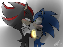 Shadonic Then You look at me by IdalYaoiSonic1344