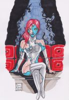 Mystique transforming by samrogers