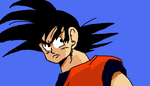 Goku looking back by sonic-the-hedgehog1