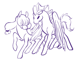 Commission: Senbon Angel and Look Alike by ponywise