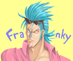One Piece - Pure Color Franky by thegreatlimechan