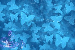 Wallpaper de mariposas azules by SuperstarElevate