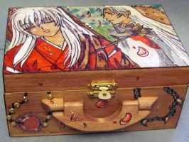 Inuyasha watercolor Box by 0rangerayne