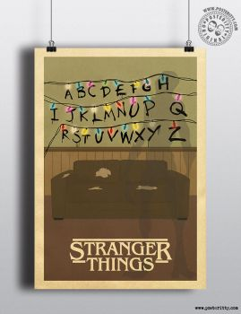 Stranger Things Lights Posteritty Minimal Poster by Posteritty