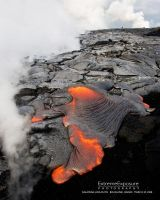 Kalapana Lava Flow, Hawaii by extremeimageology