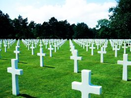 World War II American graves by Amersss
