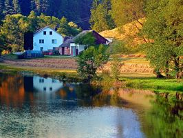A summer evening along the river II by patrickjobst