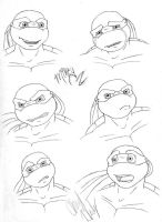 TMNT: Mikey's new head by dymira128