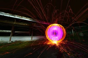 Purple Orb With Sparks by drtongs