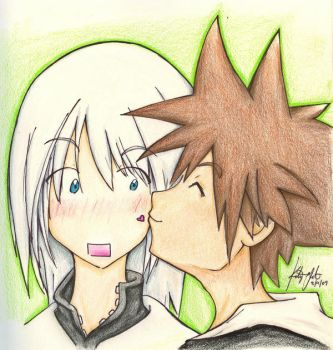 Sora and Riku by aoi-ryuu