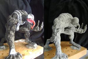 Bulky venom sculpture befor and after by b1938dc
