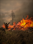 Man and Fire by wb-skinner