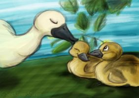 Mother Duck by Sockless-Sheep
