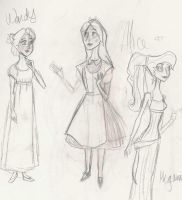 Disney Sketchies by Moronic-Muffin