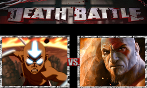 Aang vs. Kratos by ScarecrowsMainFan