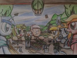MLP: Paladin's dinner with his friends (Redraw) by Paladin360