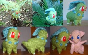 Crochet Chikorita by Morethantoday