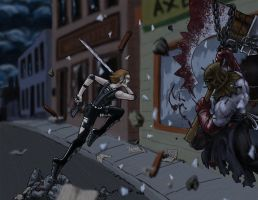 3d Executioner vs Alice by rayzilla