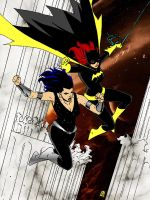 Donna Troy and Batgirl ! by markdominic