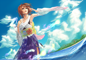FFX -- Sea Hibiscus by Aureta