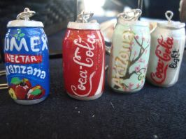 some popular drinks  keychains by ginajaja