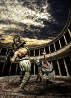 Gladiator fight by rigoszabi