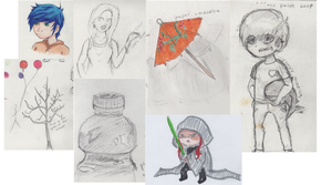 My first real sketch dump!! by tirzacantfail
