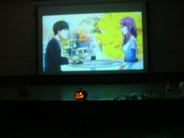 We're watching one of Anime TV shows together by Magic-Kristina-KW