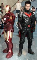 Team-up of Iron Man and Batman Beyond by trivto