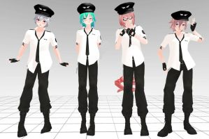 MMD Pack Boys Tda Police Download !! ( Close ) by InoriAruma