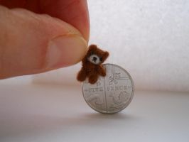 Ooak miniature micro jointed teddy bear by tweebears