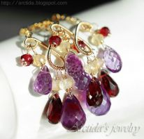 *Domani* Amethyst, Citrine and Garnet by Arctida