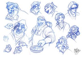 Treasure Planet Sketch Dump by Chansey123