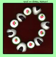 Sushi and Riceball Bracelet by querulousArtisan