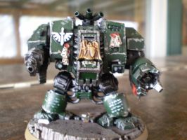 dark angels dreadnought by pyramidrus