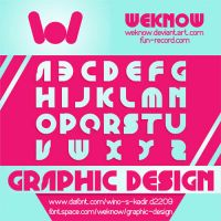 Graphic Design font by weknow by weknow