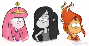 Adventure Time Ladies by bluevioletowl